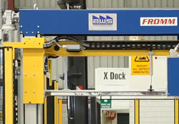 Automatic Inline Strapping System for Fibreboard Distribution Centre